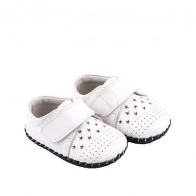 Chaussures premiers pas cuir souple Cérémonie Stars C2BB - chaussons, chaussures, chaussettes pour bébé