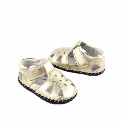 Chaussures premiers pas cuir souple Sandales Gold