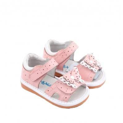 Sandales semelles souples papillon GIRLY C2BB - chaussons, chaussures, chaussettes pour bébé