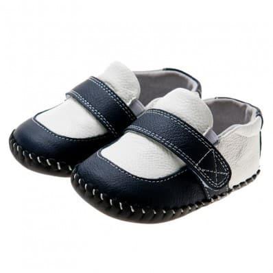 Little Blue Lamb - Zapatos de bebe primeros pasos de cuero niños |
