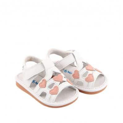Sandales semelles souples Coeurs Tendres C2BB - chaussons, chaussures, chaussettes pour bébé