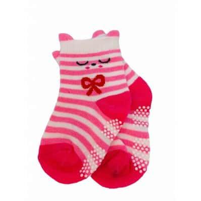 chaussette antidérapante LILI ROSE C2BB - chaussons, chaussures, chaussettes pour bébé