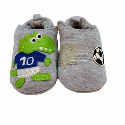 Chaussons en tissu CROCO FOOTBALLEUR C2BB - chaussons, chaussures, chaussettes pour bébé