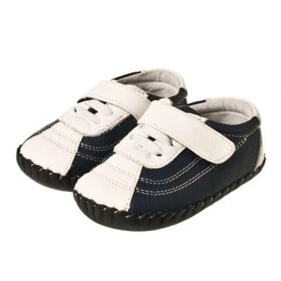 Little Blue Lamb - Chaussures premiers pas cuir souple | Baskets bleu marine