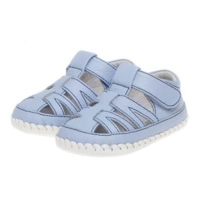 Little Blue Lamb - Krabbelschuhe Babyschuhe Leder - Jungen | Sandalen Blau