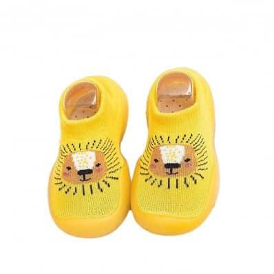 Chaussons-chaussettes respirants LION C2BB - chaussons, chaussures, chaussettes pour bébé