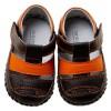 Chaussures premiers pas cuir souple sandales bicolores