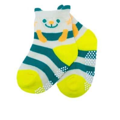 chaussette antidérapante OURS C2BB - chaussons, chaussures, chaussettes pour bébé