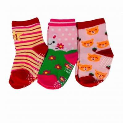 Lot de chaussettes antidérapantes RAYEE, LAPIN, OURSON