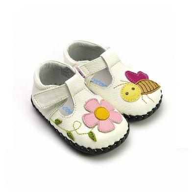 Chaussures premiers pas cuir souples Babies ABEILLE