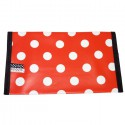 Oilcloth checkbook holder Made in France | Red with white dots