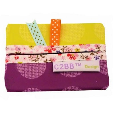 Pochette à mouchoirs en papier MADE IN FRANCE | Jaune orange C2BB - chaussons, chaussures, chaussettes pour bébé