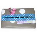 Pochette à mouchoirs en papier MADE IN FRANCE | Gris à pois