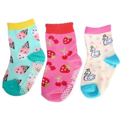 El Lot de 3 calcetines antideslizante para niñas | Lot 8