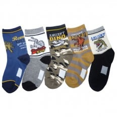 5 pairs of boys non slip baby socks children from 4 to 8 years old | item A