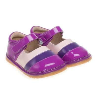 Little Blue Lamb - Chaussures à sifflet | Violet Rayé