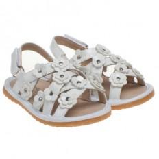 Little Blue Lamb - Scarpine bimba primi passi con fischietto | Cerimonia di sandali floreale e colore rosa