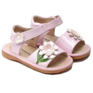 Little Blue Lamb - Chaussures à sifflet | Sandales rose cérémonie