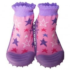 Hausschuhe - Socken Baby Kind geschmeidige Schuhsohle Mädchen | Sterne