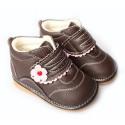 FREYCOO - Chaussures à sifflet | Montantes marron fleur rose