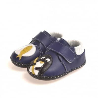 CAROCH - Chaussures premiers pas cuir souple | Petit pingouin