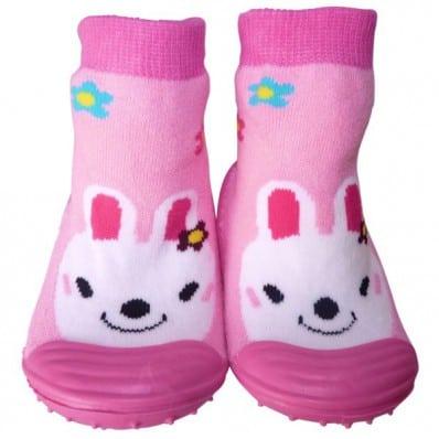 Scarpine calzini antiscivolo bambini - ragazza | Carino coniglio