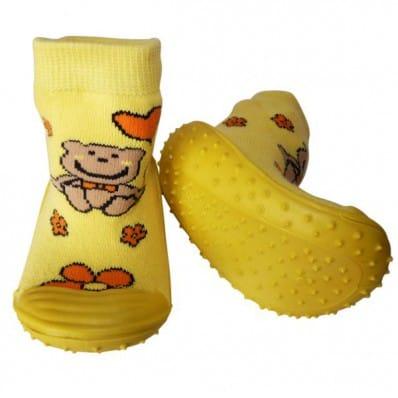 Chaussons-chaussettes enfant antidérapants semelle souple | Petit ours