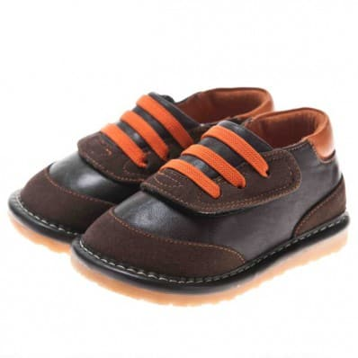 http://cdn2.chausson-de-bebe.com/2888-thickbox_default/little-blue-lamb-squeaky-leather-toddler-boys-shoes-brown-and-orange-sneakers.jpg