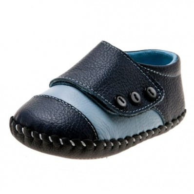 Little Blue Lamb - Krabbelschuhe Babyschuhe Leder - Jungen | Marineblau