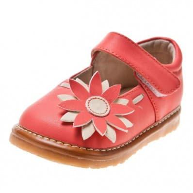 Little Blue Lamb - Zapatos de cuero chirriantes - squeaky shoes niñas | Babies rosa margarita