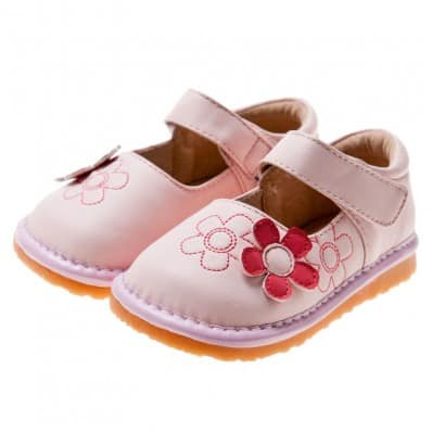 Little Blue Lamb - Chaussures à sifflet | Babies rose fleur rouge
