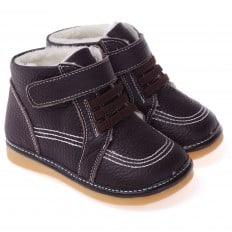 CAROCH - Zapatos de cuero chirriantes - squeaky shoes niños | Forradas marrones