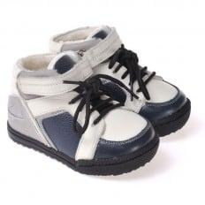 CAROCH - Zapatos de suela de goma blanda niños   Azul y gris