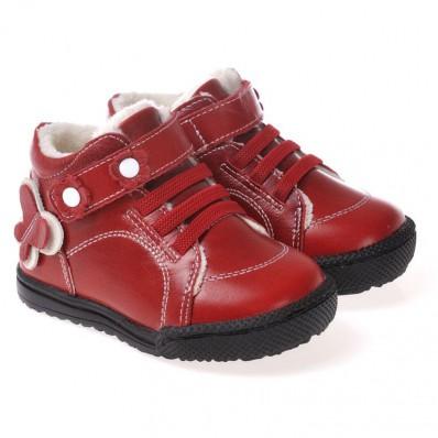 CAROCH - Chaussures semelle souple | Montantes fourrées rouge