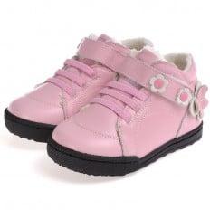 CAROCH - Chaussures semelle souple | Montantes fourrées rose