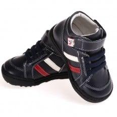 CAROCH - Krabbelschuhe Babyschuhe  Leder - Jungen | Schwarz gefüllte stiefel