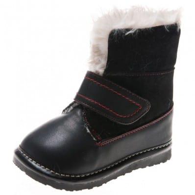 Little Blue Lamb - Chaussures à sifflet | Bottes noires
