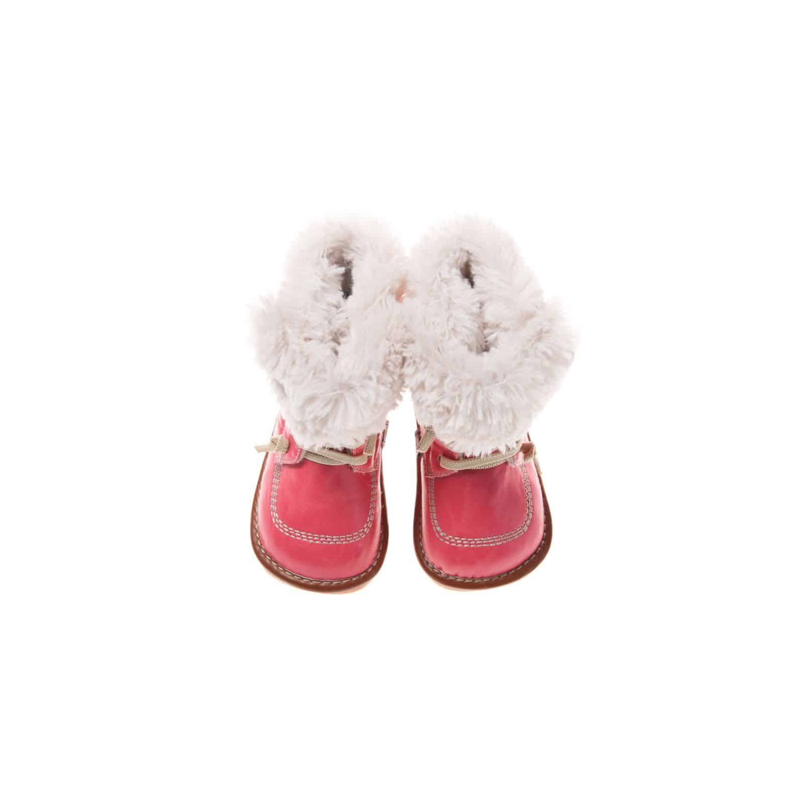 Blue Lamb - Squeaky Leather Toddler Girls Shoes | Pink winter bootees
