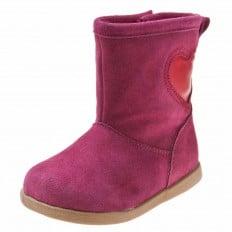 Little Blue Lamb - Zapatos de cuero chirriantes - squeaky shoes niñas | Botas de terciopelo de color rosa púrpura