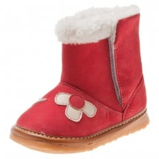 Little Blue Lamb - Squeaky Leather Toddler boys Shoes | Pink boots