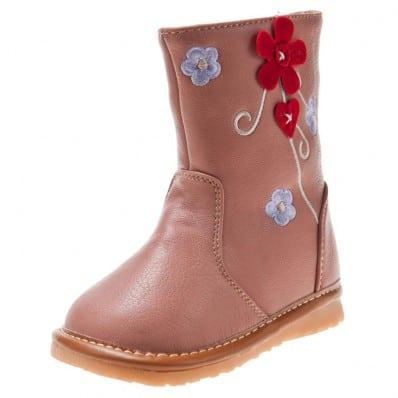 Little Blue Lamb - Chaussures à sifflet | Bottes rose fleur rouge
