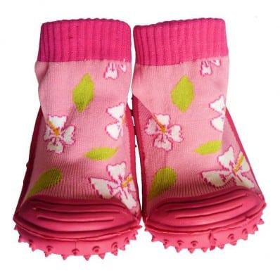 Calcetines con suela antideslizante para niñas   Rosa flores de cerezo