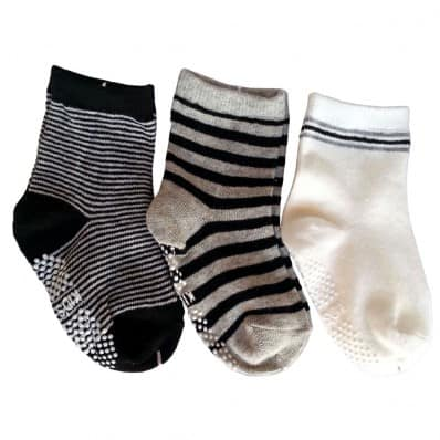 3 paia di calzini antisdrucciolo bambino di 1 a 3 anni | Ragazzo 24