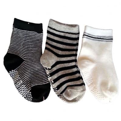 3 paires de chaussettes antidérapantes bébé enfant de 1 à 3 ans | Lot 24