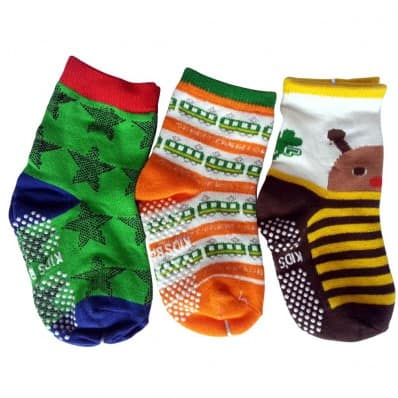 3 pairs of boys anti slip baby socks children from 1 to 3 years old | item 26
