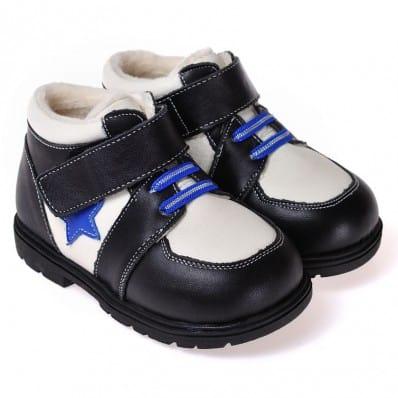CAROCH - Chaussures semelle souple ultra résistante| Montantes noire étoile bleu