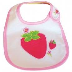 Lätzchen Baby Mädchen gestickte Baumwolle | Erdbeere