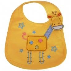 Bavaglini bambino ragazza cotone ricamato | Giraffa