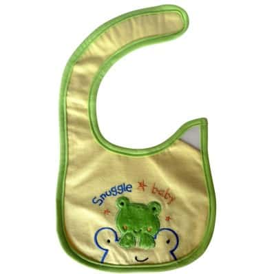 Baby boy Embroidered bibs | Frog