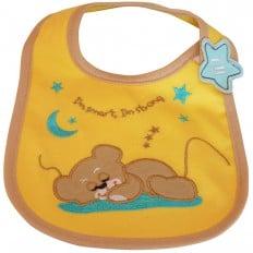 Baby boy Embroidered bibs | Bear cub